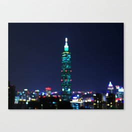 Taipei Nightscape Canvas Print