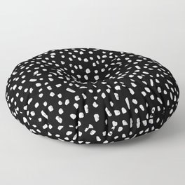Black and White Painted Speckle pattern Floor Pillow
