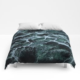 Waves Marble (Color) Comforters