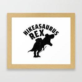 Hikeasaurus Rex | Tyrannosaurus Rex Hiking Nature Framed Art Print