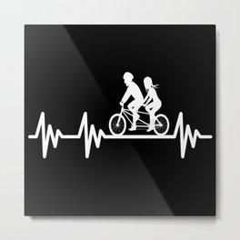 Tandem Heartbeat Tandem Bike Metal Print