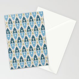 X-Mas Dog surface pattern (blue-green) Stationery Cards