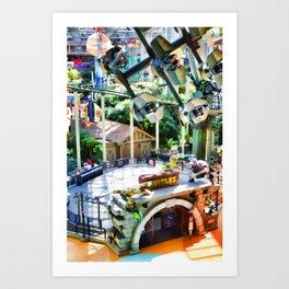 ShellShock Ride at Nickelodeon Universe at MOA Art Print