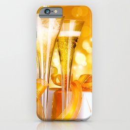 Happy New Year Christmas decoration champagne New Year Party ribbons glare Christmas iPhone Case
