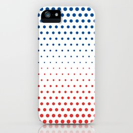 Bleu Blanc Rouge-Wide - Living Hell iPhone Case