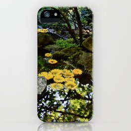 sunflowers in the stream iPhone Case