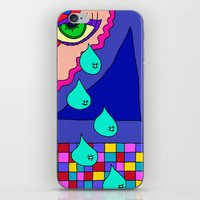 blankets iPhone & iPod Skins featuring Abstract 34 by Linda Tomei