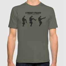 Street Fight LARGE Lieutenant Mens Fitted Tee