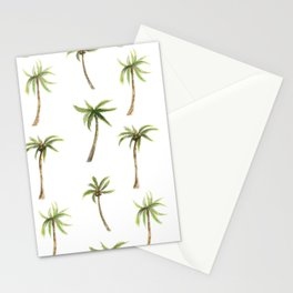 Watercolor palm trees pattern Stationery Cards
