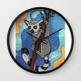 Lemur Neon Colorful Wall Clock