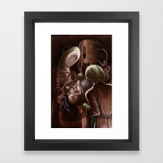 Blood Letting with Leeches Framed Art Print