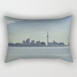 Toronto Skyline with mist floating on the sea Rectangular Pillow