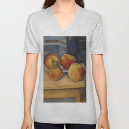 """Paul Cezanne """"Still Life with Apples and Pears"""" Unisex V-Neck"""