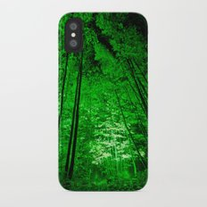 Electric Forest Green iPhone X Slim Case