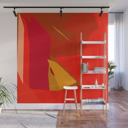 Red Confidence Wall Mural