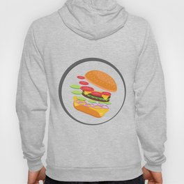 Awesome Burger falling down - I love Burger Hoody