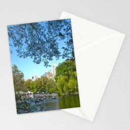 The boathouse at Central Park - NYC Stationery Cards