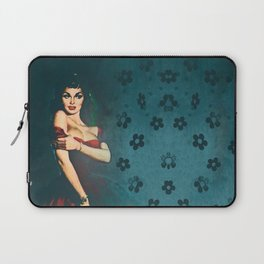 Flower In A Smoky Room Laptop Sleeve