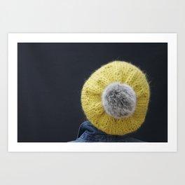 Ceri Beret Yellow Art Print