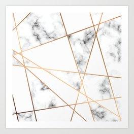 Marble Geometry 054 Art Print