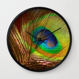 Peacock's Love Wall Clock