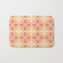 Moroccan tile - terracotta Bath Mat