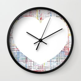 The System - large heart Wall Clock