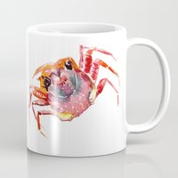 crab Mugs featuring Crab by SurenArt