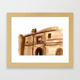 Viterbo Windows - 4 Framed Art Print