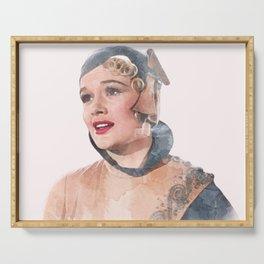 Lina Lamont - Jean Hagen - Singin' in the Rain - Watercolor Serving Tray