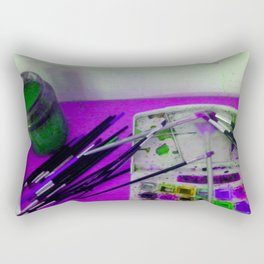 Aquarell und Digital Rectangular Pillow