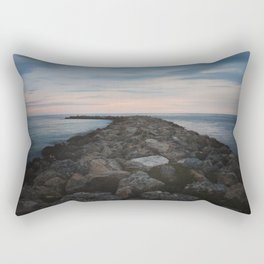 The Jetty at Sunset - Vertical Rectangular Pillow