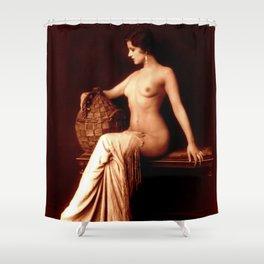 Dorothy Knapp Vintage Sophistication Shower Curtain