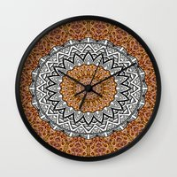leopard Wall Clocks featuring Leopard by Kimberly McGuiness