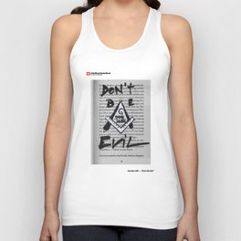 #20 - Don't be Evil Unisex Tank Top