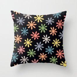 Stylized Flower Pattern Throw Pillow
