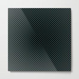 Black and June Bug Polka Dots Metal Print