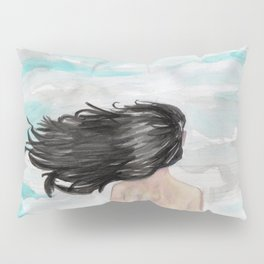 Wind in her hair Pillow Sham