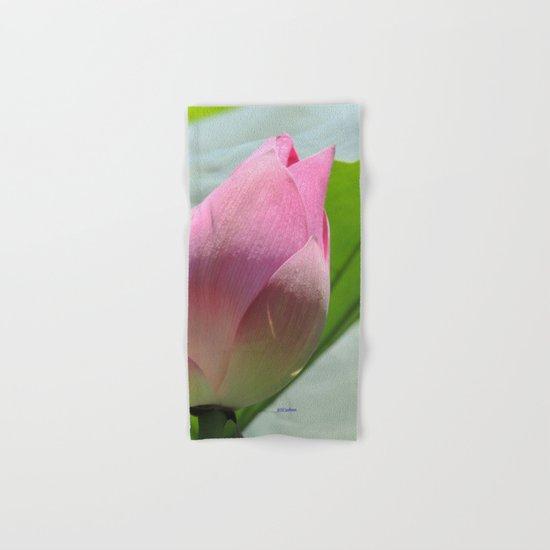 Lotus Bud in West Lake Hand & Bath Towel