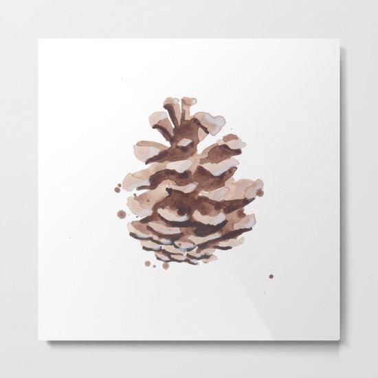 Pine Cone Study Metal Print