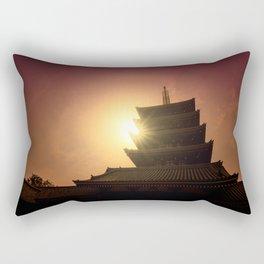 Five-storied pagoda of Sensoji Temple in Asakusa, Tokyo, Japan Rectangular Pillow