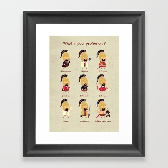 Spartan Career Test Framed Art Print