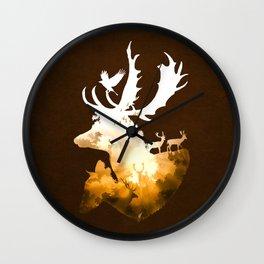 Deer Autumn Wall Clock