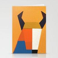 taurus Stationery Cards featuring Taurus by Fernando Vieira