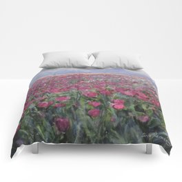 Flower Fields Comforters