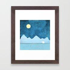 Fishing in the Arctic Framed Art Print