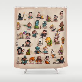 Tiny Adventures Shower Curtain