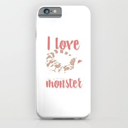 Alligator Herpetology Reptiles Cold Blooded Animal Gift I Love Gila Monster iPhone Case