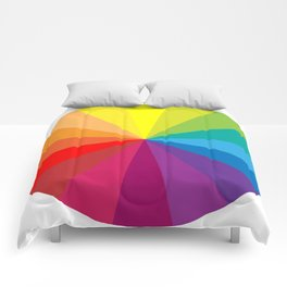 Colour Wheel Clock #1 Comforters