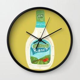 Ranch Dressing Wall Clock
